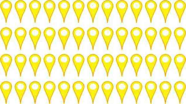 Yellow Map Pointer Stickers