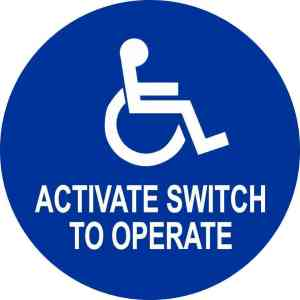 Double Sided Activate Switch to Operate Handicap Sticker