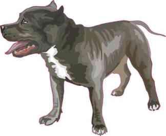 Blue Pitbull Sticker
