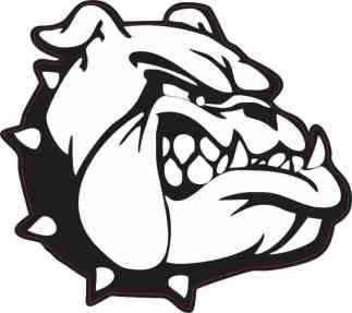 Black and White Bulldog Sticker