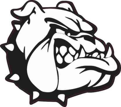 Black and White Bulldog Sticker