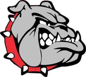 Red Collared Bulldog Sticker