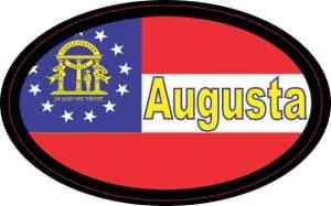 Oval Georgia Flag Augusta Sticker
