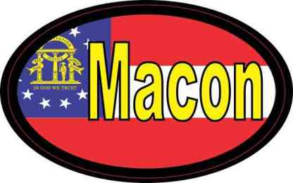 Oval Georgia Flag Macon Sticker