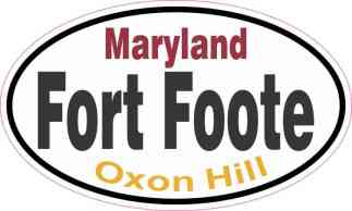 Oval Fort Foote Sticker