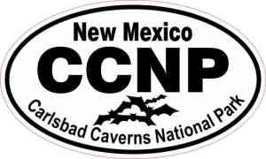 Bats Oval Carlsbad Caverns National Park Sticker