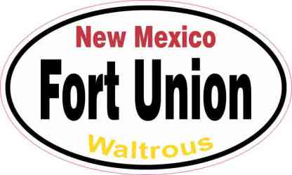 Oval Fort Union Sticker