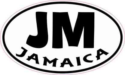 Oval Jamaica Sticker