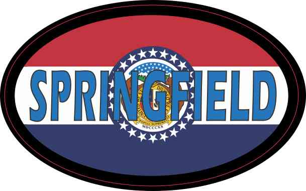 Oval Missouri Flag Springfield Sticker