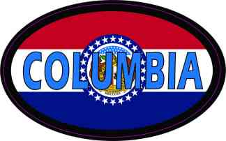 Oval Missouri Flag Columbia Sticker