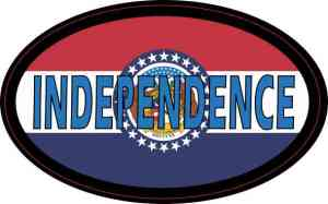 Oval Missouri Flag Independence Sticker
