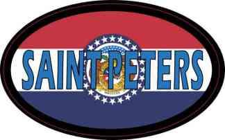 Oval Missouri Flag Saint Peters Sticker
