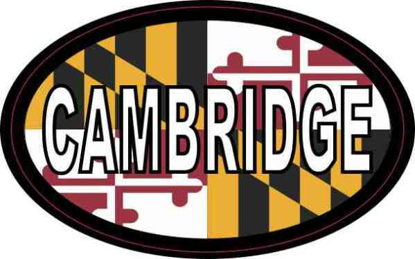 Oval Maryland Flag Cambridge Sticker
