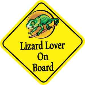 Lizard Lover On Board Sticker