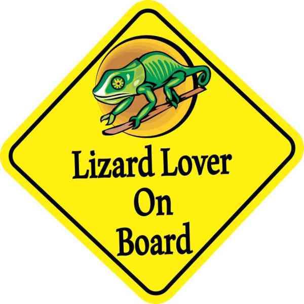 Lizard Lover On Board Sticker