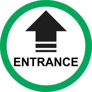 Green Circle Entrance Arrow Sticker