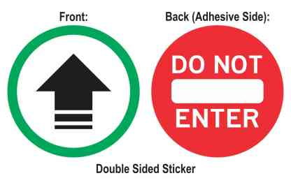 Double Sided Entrance Arrow Do Not Enter Sticker
