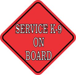 Red Service K-9 on Board Magnet