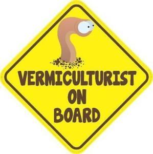 Vermiculturist On Board Magnet