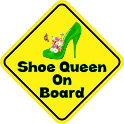 Shoe Queen On Board Sticker
