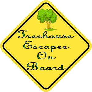 Treehouse Escapee On Board Sticker