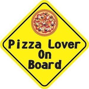 Pizza Lover On Board Magnet