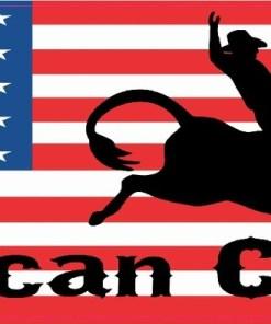 American Cowboy Bumper Sticker