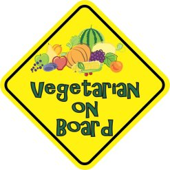Vegetarian On Board Sticker
