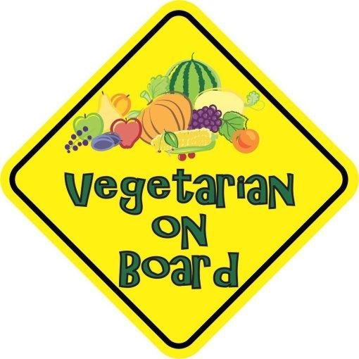 Vegetarian On Board Sticker