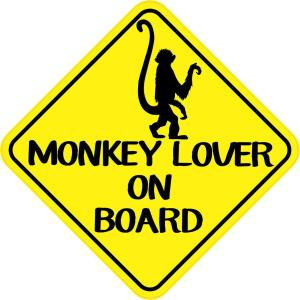 Monkey Lover on Board Magnet