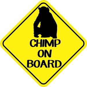 Chimp On Board Sticker