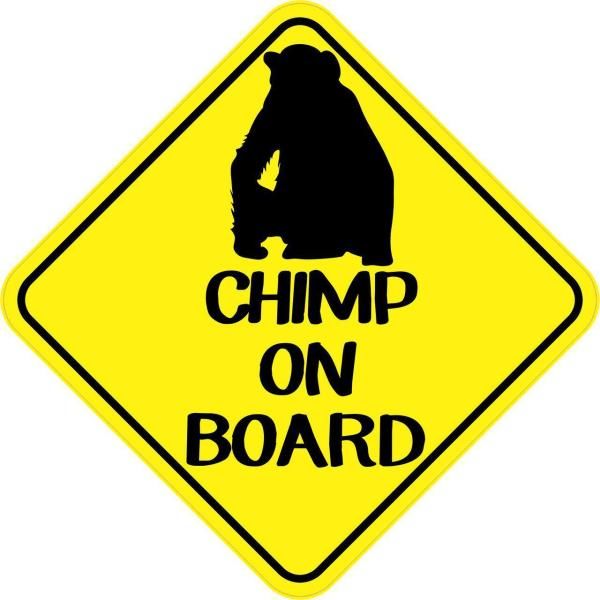 Chimp On Board Magnet