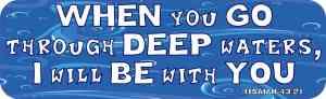 Isaiah 43:2 Magnet