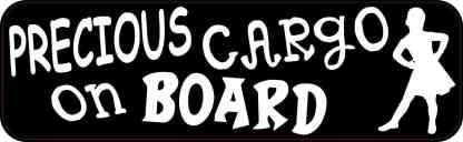 Girl Precious Cargo on Board Magnet