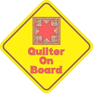 Quilter On Board Sticker