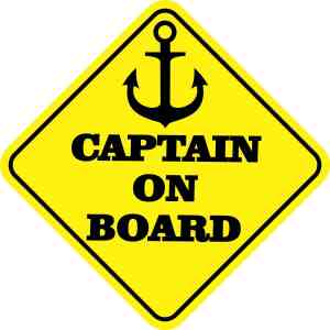 Captain on Board Magnet