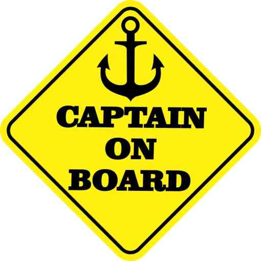Captain on Board Magnet