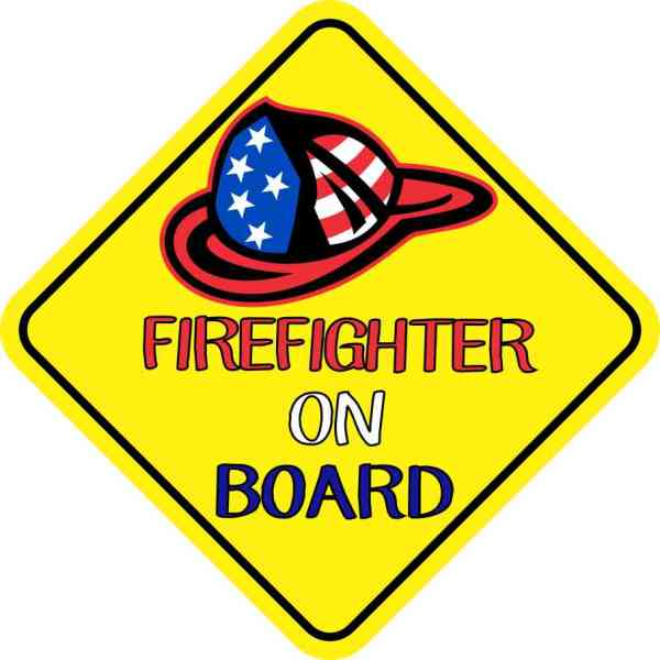 Firefighter On Board Magnet