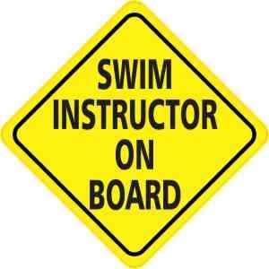 Swim Instructor On Board Magnet