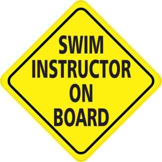 Swim Instructor On Board Sticker