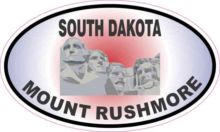 Patriotic Oval Mount Rushmore Sticker