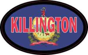 Oval Vermont Flag Killington Sticker