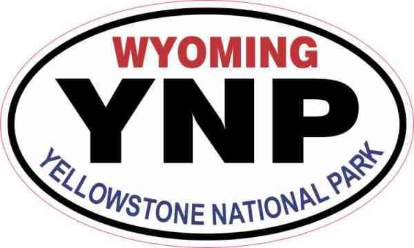 Oval Yellowstone National Park Sticker