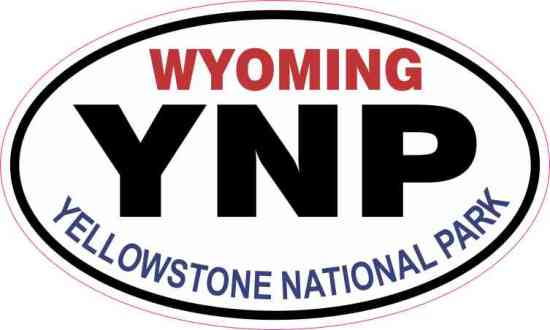 Oval Yellowstone National Park Sticker