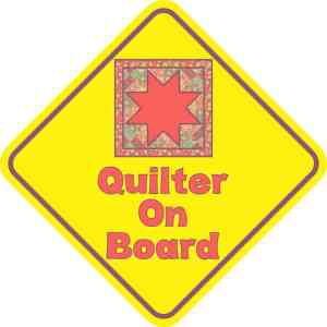 Quilter On Board Magnet