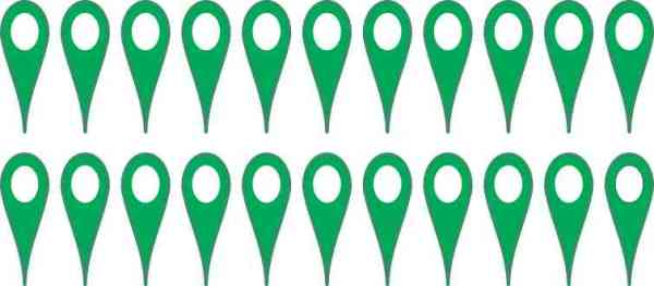 Green Map Pointer Stickers