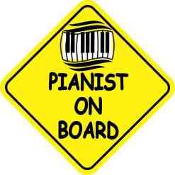 Pianist On Board Sticker