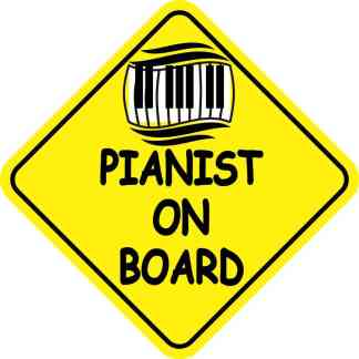 Pianist On Board Magnet