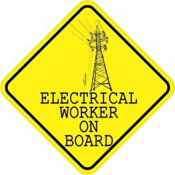 Electrical Worker On Board Magnet