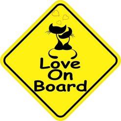 Love On Board Sticker